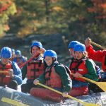Allegheny College students raft a river