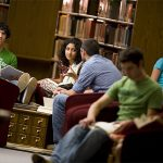 Austin College students study together