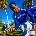 New College of Florida students play flag football together
