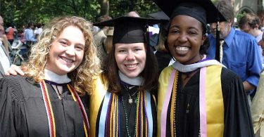Agnes Scott College students graduate