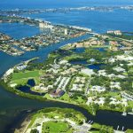 An aerial view of Eckerd College