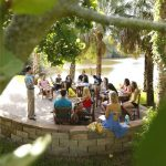 Eckerd College students have class outdoors