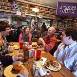 Millsaps College students and professors dine together on campus