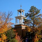 The bell tower of Weigel Hall on St. John's Sante Fe campus