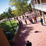 St. John's students walk across the Sante Fe campus