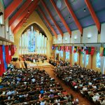 The St. Olaf community gathers together in a chapel