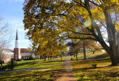 Emory & Henry College campus on a fall day