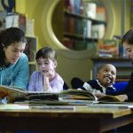 Hiram College students tutor elementary-age students