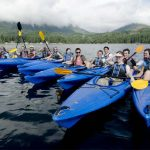 University of Puget Sound students kayak together