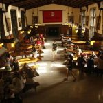 Students gather in a Rhodes College dining hall