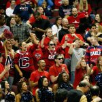 Saint Mary's College students cheer on the Gaels