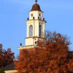 A view across Wabash College on an autumn day