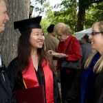 Guilford College students at graduation