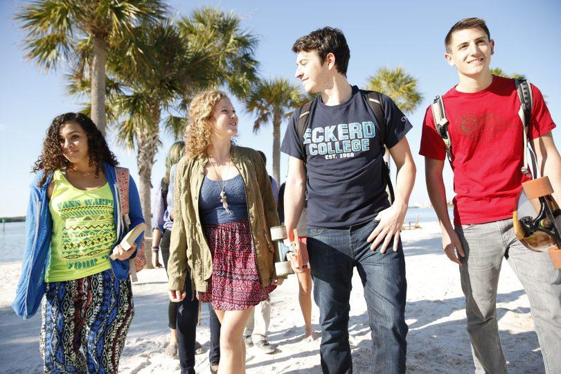 Eckerd.students on beach